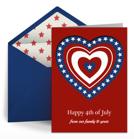 "Free ""Patriotic Heart"" 4th of July eCard by Punchbowl"