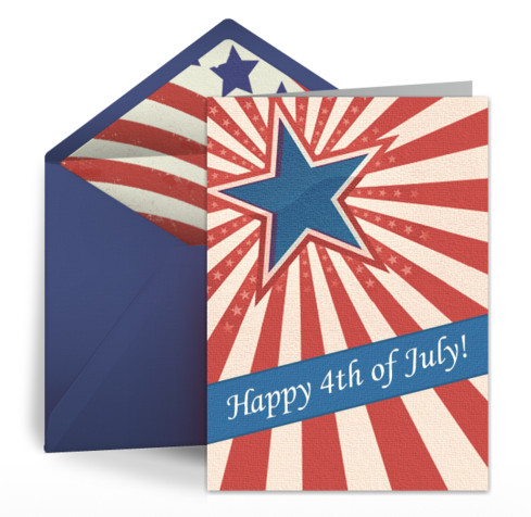 Vintage 4th of July free card design by Punchbowl