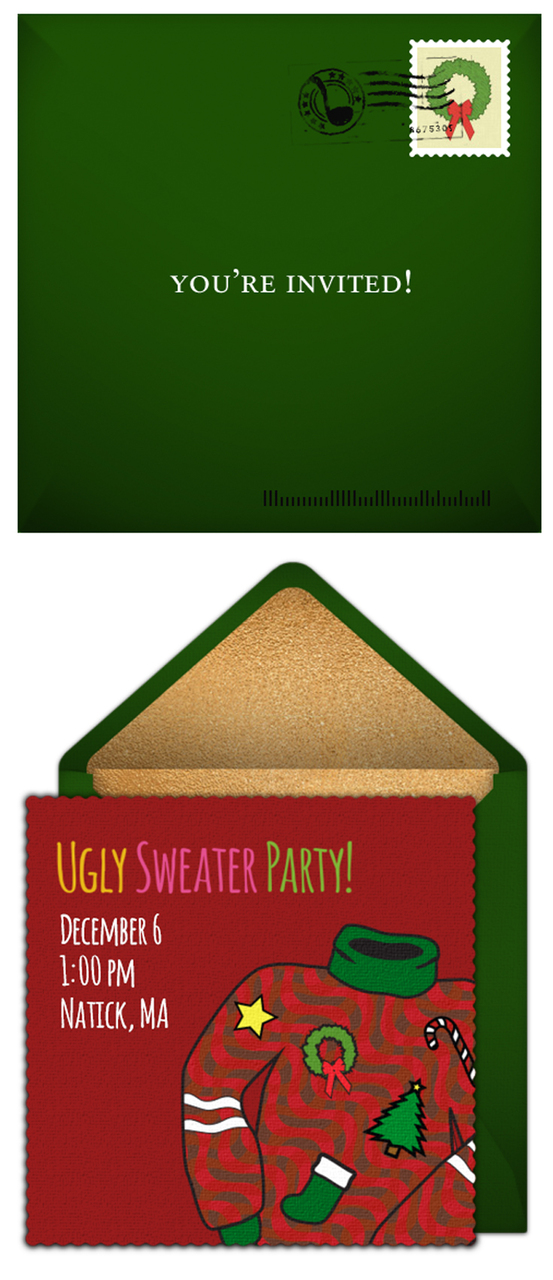 Free Ugly Sweater party invitations