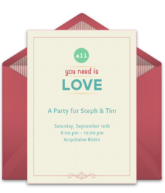 free engagement party online invitations  punchbowl, Party invitations