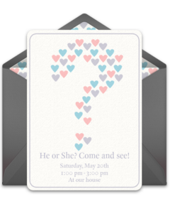 gender reveal - Gender Reveal Party Invites