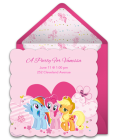free my little pony online invitations | punchbowl, Party invitations