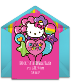 Free Hello Kitty Online Invitations Punchbowl