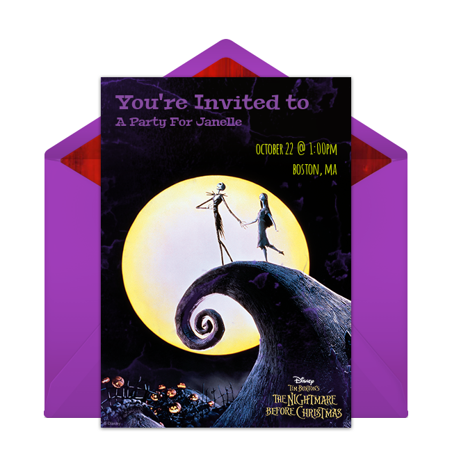 Free The Nightmare Before Christmas Online Invitation Punchbowl – Christmas Party Invitations Free Online