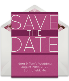 Free Wedding Save the Dates Online | Punchbowl