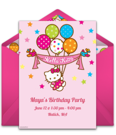 Free Hello Kitty Online Invitations | Punchbowl