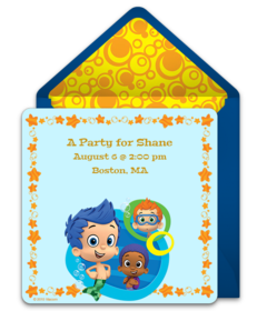 Free Bubble Guppies Online Invitations Punchbowl