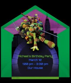 Teenage Mutant Ninja Turtles Online Invitations Punchbowl