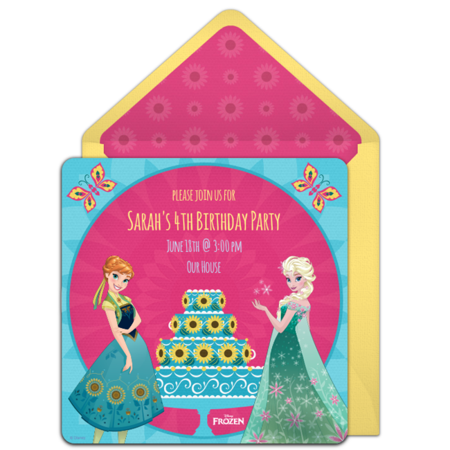 Free Frozen Fever Birthday Online Invitation Punchbowl – Punchbowl Birthday Invitations