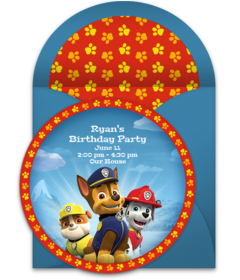 Free PAW Patrol Online Invitations   Punchbowl