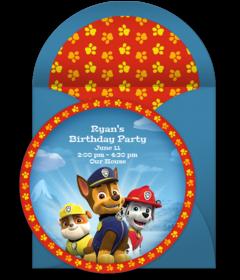 Free PAW Patrol Online Invitations | Punchbowl