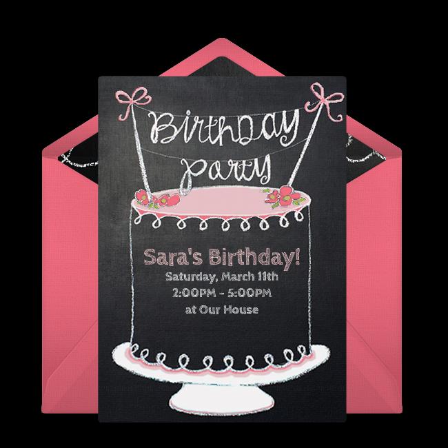 chalkboard birthday invitations