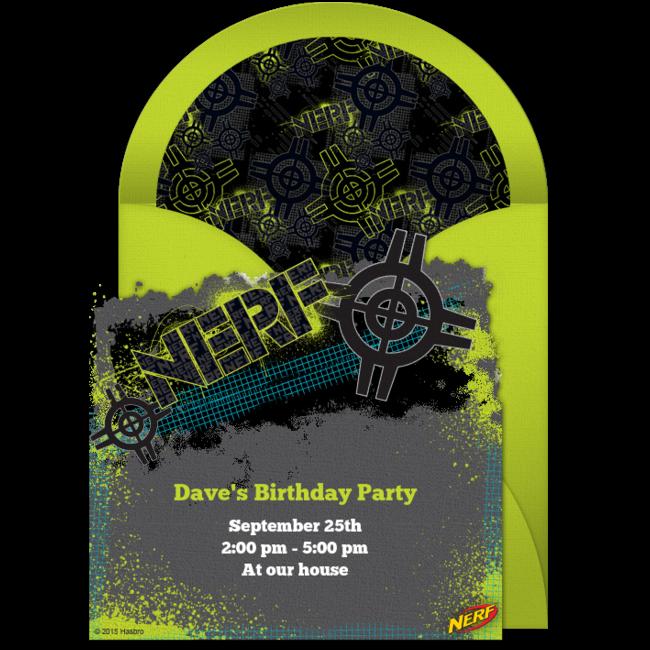 free nerf target online invitation - punchbowl, Birthday invitations