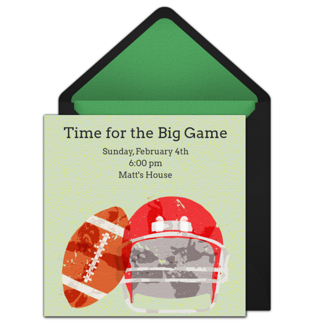 football invitations templates
