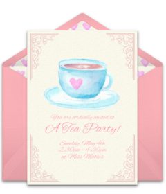 Free Tea & Coffee Online Invitations | Punchbowl