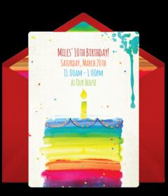 free st birthday online invitations  punchbowl, Birthday card