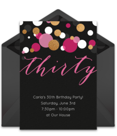 Free Adult Birthday Party Online Invitations | Punchbowl