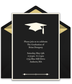 free grad invitations graduation online invites punchbowl - Graduation Ceremony Invitation