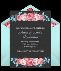 winter rose wedding - Free Wedding Invitations Online