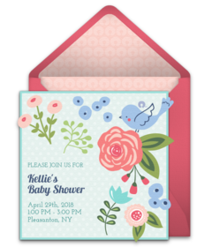baby shower online invitations  punchbowl, Baby shower invitations