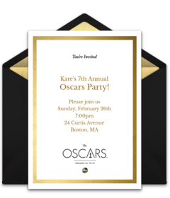 Free Oscars Party Online Invitations | Punchbowl