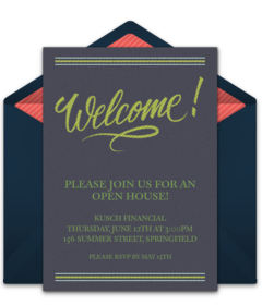 open house welcome - Free Housewarming Invitations