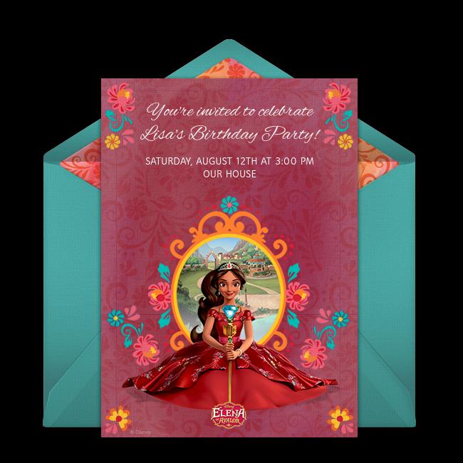 Free Elena of Avalor Online Invitation Punchbowl – Punchbowl Birthday Invitations