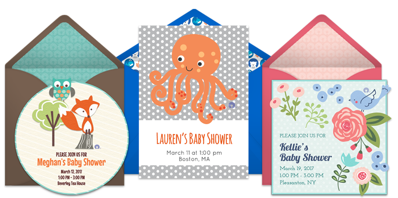 free baby shower online invitations