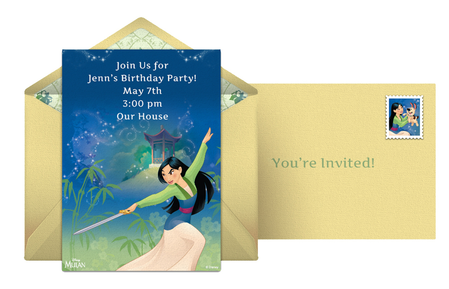 Mulan Online Invitation from Punchbowl®